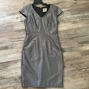 Nue by Shani metallic shift dress